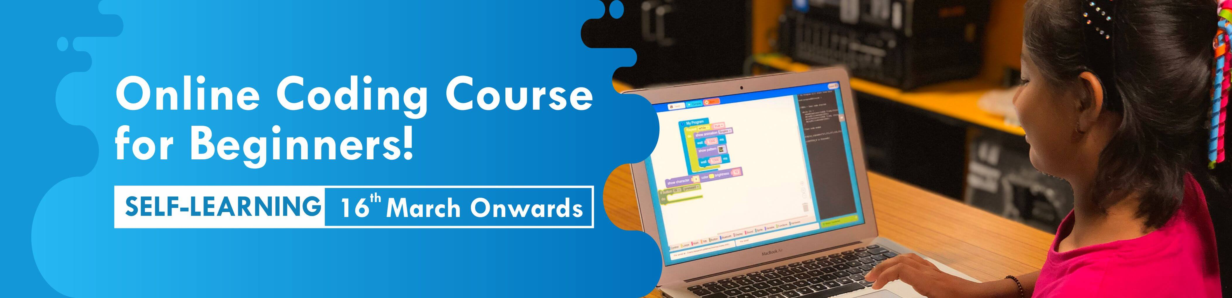 Online Coding Course for Beginners (Self Learning) banner