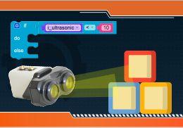Steps to Make Program an Ultrasonic sensor to make an obstacle avoider