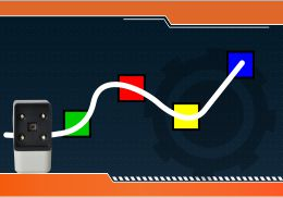 Steps to Make  Program to move a robot in different directions on sensing different colors.
