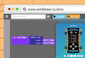 Steps to Make Introduction To Maker Board Simulator And Coding In AMS