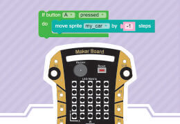 Steps to Make Car game using Maker Board